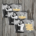 Gold Ribboned Custom Save the Date
