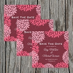 Maroon Floral Custom Save the Date