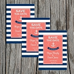 Nautical Striped Custom Save the Date