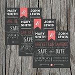 Rose Colored Custom Save the Date