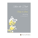 Yellow Floral Save the Date by Stacy Claire Boyd
