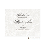 White Floral Save the Date by Stacy Claire Boyd