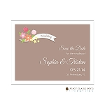 Multicolored Flowers Save the Date by Stacy Claire Boyd