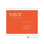 Orange Save the Date by Stacy Claire Boyd