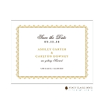 Gold Patterned Save the Date by Stacy Claire Boyd