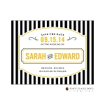 Black Striped Save the Date by Stacy Claire Boyd