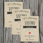 Simple Heart Custom Save the Date