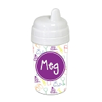 Beach Life with Purple 10 oz. Custom Spill Proof Sippy Cup