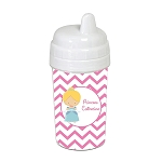 Chevron Glass Slipper Princess 10 oz. Custom Spill Proof Sippy Cup