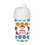 Multicolored Cowboy Dots 10 oz. Custom Spill Proof Sippy Cup