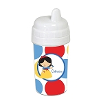 Dotted Snow Princess 10 oz. Custom Spill Proof Sippy Cup
