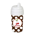 Cherry Hearts 10 oz. Custom Spill Proof Sippy Cup