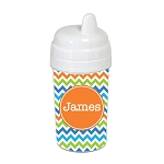 Multicolored Chevron with Orange 10 oz. Custom Spill Proof Sippy Cup