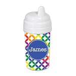 Multicolored Stars with Blue 10 oz. Custom Spill Proof Sippy Cup