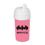 Pink Bat Signal 10 oz. Custom Spill Proof Sippy Cup