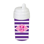 Purple Striped Pink Cloud 10 oz. Custom Spill Proof Sippy Cup