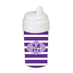 Purple Striped Purple Cloud 10 oz. Custom Spill Proof Sippy Cup