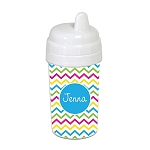 Multicolored Chevron 10 oz. Custom Spill Proof Sippy Cup