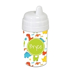 Multicolored Dinosaurs 10 oz. Custom Spill Proof Sippy Cup