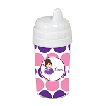 Pink and Purple Ballerina 10 oz. Custom Spill Proof Sippy Cup