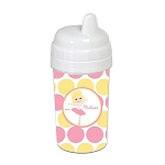 Pink and Yellow Ballerina 10 oz. Custom Spill Proof Sippy Cup