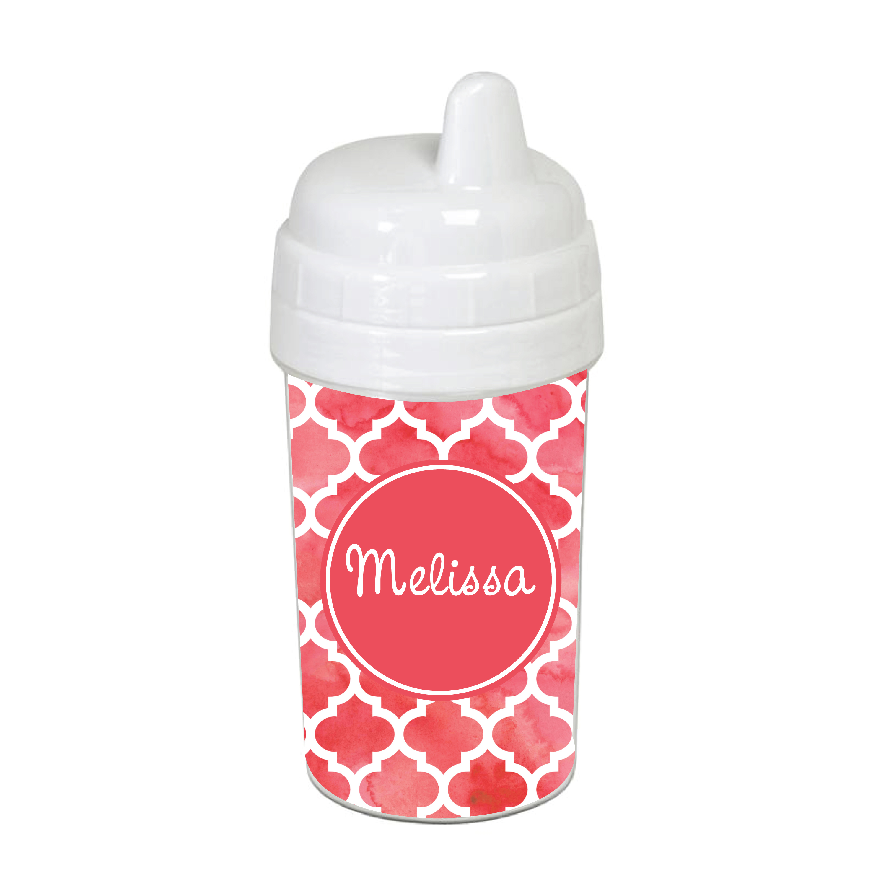 33cfeef257e Watercolor Quarterfoil 10 oz. Custom Spill Proof Sippy Cup