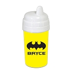 Yellow Bat Signal 10 oz. Custom Spill Proof Sippy Cup