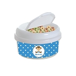Blue Dotted Cowboy 12 oz. Snap Lid Snack Container