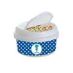 Blue Dotted Seahorse 12 oz. Snap Lid Snack Container
