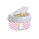 Chevron Glass Slipper Princess 12 oz. Snap Lid Snack Container