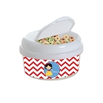 Chevron Snow Princess 12 oz. Snap Lid Snack Container