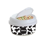 Cow Print 12 oz. Snap Lid Snack Container