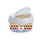 Multicolored Cowboy 12 oz. Snap Lid Snack Container