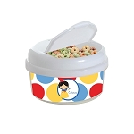 Dotted Snow Princess 12 oz. Snap Lid Snack Container