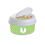 Green Dotted Seahorse 12 oz. Snap Lid Snack Container