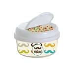 Multicolored Mustache 12 oz. Snap Lid Snack Container