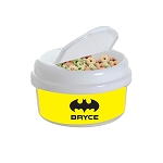 Yellow Batsignal 12 oz. Snap Lid Snack Container