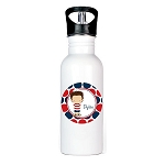 4th of July Boy Personalized Aluminum Flip Spout Water Bottle