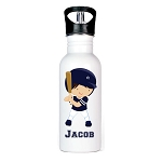 Baseball Player Personalized Aluminum Flip Spout Water Bottle