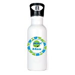 Blue and Green Ninja Personalized Aluminum Flip Spout Water Bottle