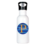 Blue Striped Personalized Aluminum Flip Spout Water Bottle
