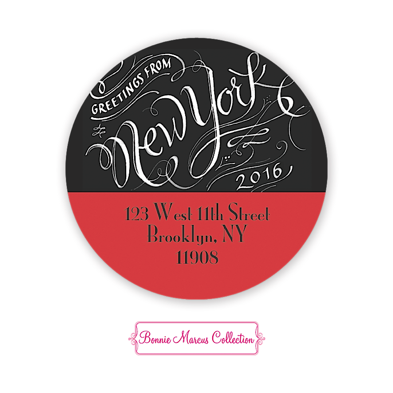 the big apple new york 2 round address labels