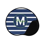 Blue Striped Green Personalized Mouse Pad