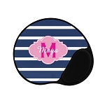 Blue Striped Pink Personalized Mouse Pad
