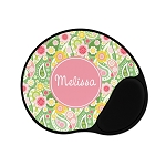 Green Paisley Personalized Mouse Pad