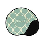 Green Patterned Personalized Mouse Pad