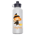 Little Witch 2 Custom Aluminum Water Bottle