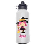 Pink Witch Custom Aluminum Water Bottle
