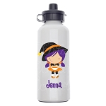 Purple Witch Custom Aluminum Water Bottle