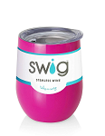 12 oz. SWIG Double-Walled Vacuum Insulated Wine Tumbler- Berry